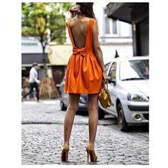Mode - style Low back dress Robes dos nu Stylish Dresses, Cute Dresses, Short Dresses, Fashion Dresses, Backless Dresses, Elegant Dresses, Bad Dresses, Backless Top, Amazing Dresses