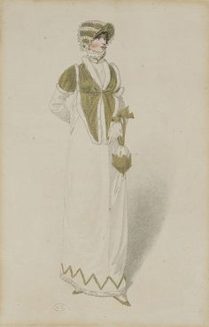 A green and fur spencer, 1809