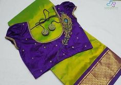 Wedding Designs Tailors to Stitch Wedding and Designer Blouses in Chennai - Looking for tailors to stitch wedding and designer blouses in Chennai? Check out these top 16 shops who offers fantastic tailoring services. Blouse Back Neck Designs, Peacock Blouse Designs, Cutwork Blouse Designs, Hand Work Blouse Design, Pattu Saree Blouse Designs, Simple Blouse Designs, Stylish Blouse Design, Bridal Blouse Designs, Aari Work Blouse
