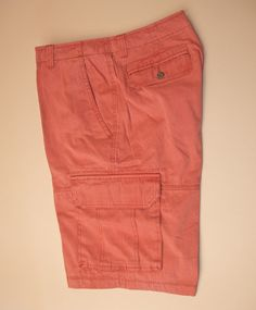 Nantucket Red Collection Men's Cargo Bermuda Shorts - Nantucket Red