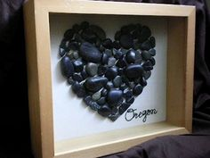 Collect rocks from a vacation or honeymoon. - Click image to find more DIY & Crafts Pinterest pins