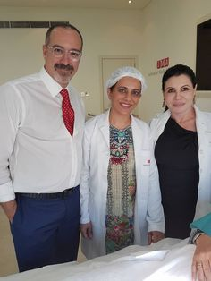 Dr Saba with Dr Franco and Dr. Maria Angelo-Khattar in workshop on threadlift. Thread lift procedure with silhouette soft threads gone to a higher level. Thread Lift, Laser Clinics, Laser Surgery, Skin Specialist, Cosmetology, Good Skin, Workshop, Silhouette, Coat