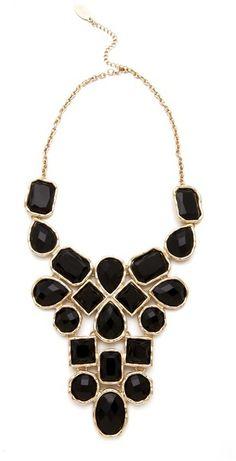 Statement Necklace - Halskette Adia Kibur Stone Bib Necklace