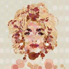 'Dotty Madge' (Madonna Spot Painting) - 20 & 30 Inch Editions of only 20 - Big Fat Arts | BFA Gallery | Czar Catstick - 1