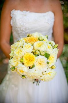 White And Yellow Bridal Bouquet Wedding Flowers 2 Cascading Wedding Bouquets, Yellow Wedding Flowers, Bride Bouquets, Bridal Flowers, Flower Bouquet Wedding, Floral Wedding, Wedding Colors, Wedding Styles, Yellow Weddings