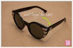 DIY Sunglasses with Silver Nailheads Side View