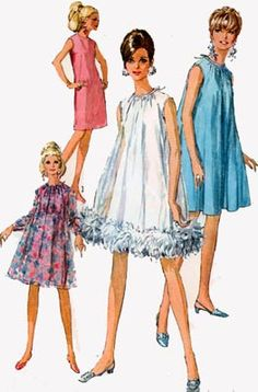 1960's vintage dress pattern