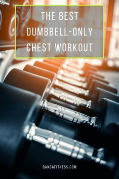 Dumbbells are a great way to target the chest, and there are a range of exercises you can do to effectively target the entire area with just a bench and the weights. Check out this workout guide for your chest, requiring only a set of dumbbells - QandA Fitness - #fitness #ChestWorkouts #dumbbells