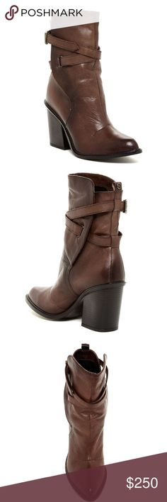 """🆕 NIB Musikalls Covent Brown Bootie Dark brown, almond shaped toe, wrap around ankle straight, pull on, back pull tab, chunky 3.5"""" heel. Brand new in box... Additional photos coming soon. Smoke free, pet free home. Diesel Shoes Ankle Boots & Booties"""