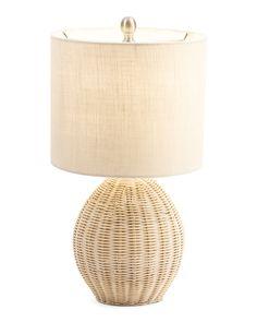 Rattan+Table+Lamp Wicker Lamp Shade, Rattan Lamp, Wicker Table, Wicker Baskets, Cheap Bedroom Makeover, Bedside Lamp, Bedroom Inspo, Table Lamps, Ceilings
