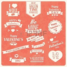 Collection of Valentine s day vintage labels, typographic - Buy this stock vector and explore similar vectors at Adobe Stock Dream Catcher Vector, Donut Vector, Triangle Vector, Mint Background, Happy Thanksgiving Day, Typographic Design, Typography, Hand Drawn Flowers, Inspirational Posters