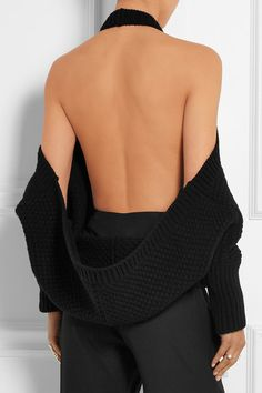 Chalayan | Open-back wool and cashmere-blend top | NET-A-PORTER.COM