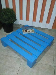 Mesa de centro - 0,60 x 0,60 ( cor : Azul Safira )
