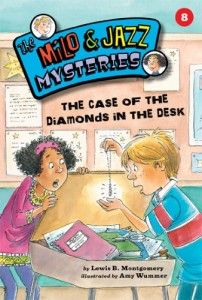 (Kane Press) A jewelry store is robbed. A diamond necklace mysteriously shows up in Milo's desk at school. The connection is crystal clear…isn't it? Detective duo Milo and Jazz tackle their eighth case in this exciting mystery!