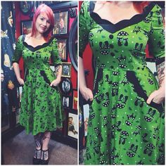 The print and 3\4 sleeves really make this dress! Find it on www.blamebetty.com or visit our boutique ❤️