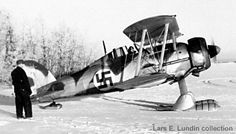 Gloster Gladiator (J8A) that belongs to the Jaktdivision of Swedish volunteer unit F19. Flygflottilj 19 defending the northern Finlad during the Winter War