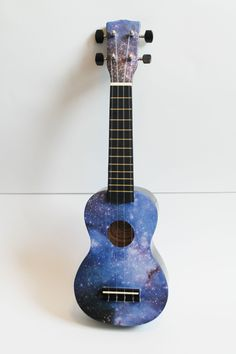 Galaxy Ukulele or any uke as long as its my very own! Ukulele Art, Cool Ukulele, Guitar Art, Ukulele Songs, Ukulele Chords, Guitar Painting, Diy Painting, Painted Ukulele, Jace