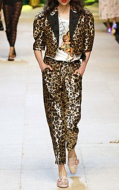 Cheetah Sequin Jacket by DOLCE & GABBANA for Preorder on Moda Operandi