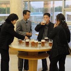 Beer halls have become established, popular spots in the North Korean capital, where locals can unwind after repeatedly bowing to portraits of Kim Jong-un.
