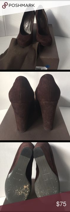 Pre-owned Amazing HALSTON brown suede wedge Heels Pre/ owned HALSTON wedge Heels. European Size 38 1/2.Beautiful rich chocolate brown buttery suede.Really nice condition. Comes with shoe pouch and original box 📦.wedge heel 4 inches. No🚫trades, exchanges or returns. ASK ANY questions-respond time is Great! All reasonable offers are excepted. I am cleaning out my closet big time so make an offer you maybe pleasantly surprised😱 Original price $645 & yes ALL my beautiful items are 💯…