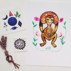 A beautiful collection for a special client!  Atabey, the goddess of fertility.
