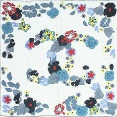 """Chanel White Multicolor Signature """"CC"""" Floral Stole/Scarf - $199.99"""