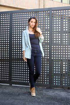 outfit, jean, camisa, shirt, botas, boots, shana, pull and bear, necklace, stradivarius, inspiration