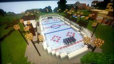 Minecraft Hockey Rink #minecraftfurniture