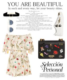Untitled #28 by yurika-michell on Polyvore featuring polyvore fashion style Fendi Dolce&Gabbana Moschino Anissa Kermiche Christian Dior clothing