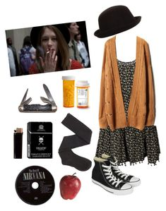 A fashion look from April 2014 featuring floral printed dress, knit cardigan and thigh-high socks. Browse and shop related looks. Grunge Outfits, Hippie Outfits, Mode Outfits, Retro Outfits, Fall Outfits, Vintage Outfits, Casual Outfits, Fashion Outfits, Alternative Outfits