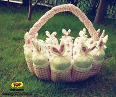 Passo a passo com molde: Como fazer cesta de Páscoa! http://topartesanato.com/cesta-de-pascoa/  #artesanato #pascoa