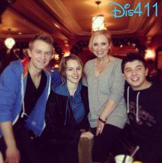 Photos: Bradley Steven Perry, Leigh-Allyn Baker, Jason Dolley And Bridgit Mendler At Disneyland Resort December 21, 2013