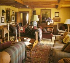Scottish Country House Sitting Room... I Love All the Tartan!!! So Very Lovely!!!