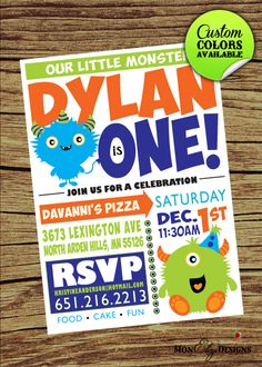Astounding Little Monster Birthday Invitations Design which Can Be Used as Birthday Party Invitations Little Monster Birthday, Monster 1st Birthdays, Monster Birthday Parties, Baby Boy 1st Birthday, Birthday Fun, First Birthday Parties, Birthday Party Themes, First Birthdays, Birthday Ideas