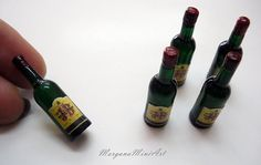 Bottle of Whisky 1/12 Scale by MorganaMiniArtShop on Etsy