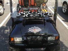 Golf cart decals for Harley Davidson lovers.