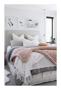 Chambre hygge #deco #hygge #chambre #cocooning #pastel #douceur #cosy