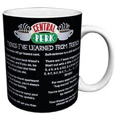 Friends Things I Learned (Central Perk Cafe Menu) TV Television Romantic Sitcom Show Ceramic Gift Coffee (Tea, Cocoa) 11 Oz. Mug