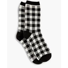 Talbots Women's Tartan Plaid Trouser Sock ($5.70) ❤ liked on Polyvore featuring intimates, hosiery, socks, talbots ivory multi, talbots, trouser socks and plaid socks