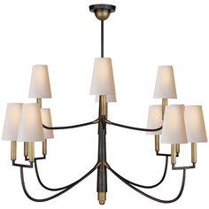 Visual Comfort Lighting Thomas OBrien Farlane 12 Light Chandelier