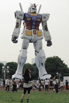 Life size Gundam, Tokyo, Japan