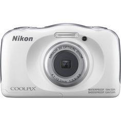 New Nikon COOLPIX W100 13.2 MP Waterproof Shockproof Digital Camera (White)