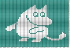 ideas for knitting charts moomin Knitting Charts, Easy Knitting, Knitting Patterns Free, Knit Patterns, Embroidery Patterns, Cross Stitch Charts, Cross Stitch Patterns, Les Moomins, Especie Animal