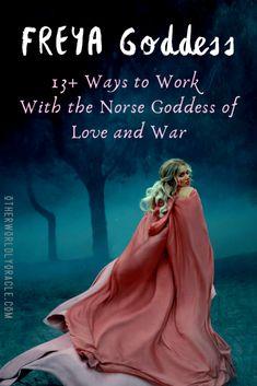 Norse Runes, Norse Pagan, Pagan Witchcraft, Norse Mythology, Norse Goddess Of Love, Moon Goddess, Triple Goddess, Nordic Goddesses, Gods And Goddesses