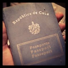 """My friend, Giancarlo's instagram: """"This is the passport my dad used to leave Cuba in 1959"""""""