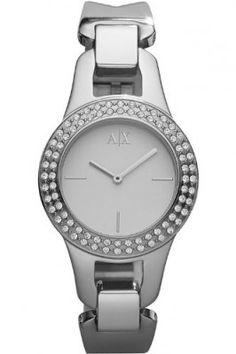 Relógio Armani AX Exchange White Dial Stainless Steel Ladies Watch AX4092 #Relogios #ArmaniExchange