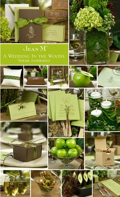 A brown and green wedding.  How nice.........