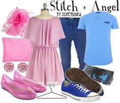 Stitch + Angel.From the movie Lilo & Stitch
