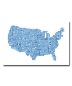Look at this #zulilyfind! US City Map XVI Gallery-Wrapped Canvas #zulilyfinds