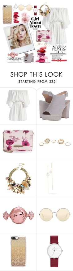 """""""Spring look"""" by yara-mikhael-deeb ❤ liked on Polyvore featuring Chicwish, Steve Madden, Kate Spade, Rossetto, GUESS, Betsey Johnson, mizuki, Judith Leiber, Victoria Beckham and Casetify"""